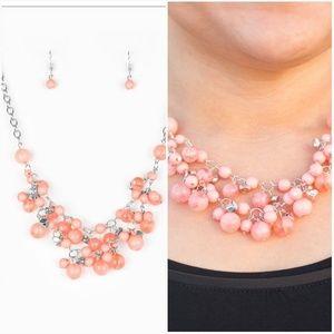 Jewelry - SPRING BRIDE ORANGE NECKLACE/EARRING SET